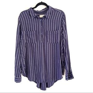 4/$25 Universal Thread Striped Collared Shirt XXL